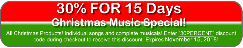 30% Off All Brower Christmas Music!